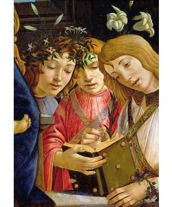 Sandro Botticelli, Maria mit dem Kind, Johannes dem Täufer und Engeln. Detail. Around 1490.