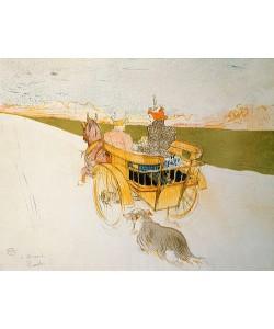 Henri de Toulouse-Lautrec, Ausfahrt im Einspänner. 1897.