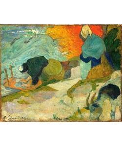 Paul Gauguin, Laveuses à Arles. / Wäscherinnen in Arles. 1888.