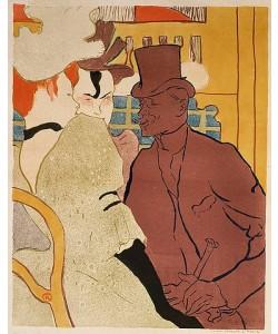 Henri de Toulouse-Lautrec, Der Engländer im Moulin Rouge. 1892