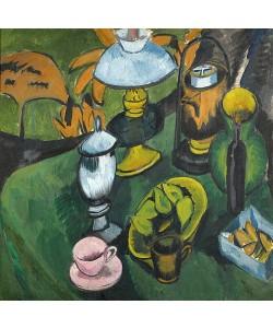 Ernst Ludwig Kirchner, Stilleben mit Lampe. Um 1911