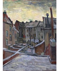 Vincent van Gogh, Hinterhöfe in Antwerpen. 1885-86
