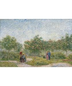 Vincent van Gogh, Garten mit Paaren: Square Saint-Pierre. 1887