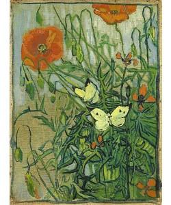 Vincent van Gogh, Schmetterlinge und Mohnblumen. 1889