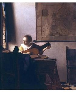 Jan Vermeer van Delft, Die Lautenspielerin am Fenster. 1664