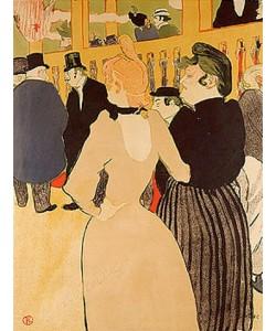 Henri de Toulouse-Lautrec, Im Moulin Rouge (La Goulue et la Mome Fromage).