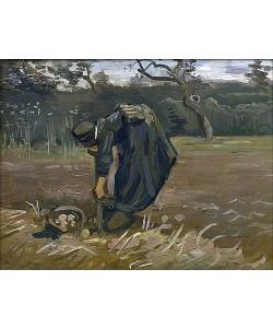 Vincent van Gogh, Bäuerin bei Kartoffelernte. 1885