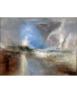 Joseph Mallord William Turner, Rockets and Blue Lights (Close at Hand) to Warn Steamboats of Shoal Water. / Raketen und Blaue Lichter (zur Hand) warnen Dampfschiffe vor Untiefen. 1840.