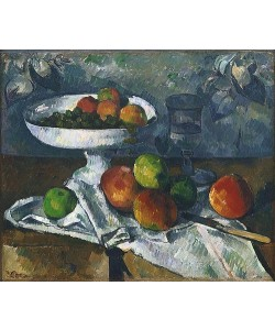 Paul Cézanne, Stillleben mit Obstschale. 1879-80