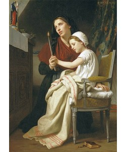 William Adolphe Bouguereau, Das Dankopfer. 1867