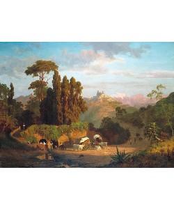 Albert Bierstadt, Italienische Berglandschaft. 1859