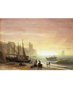 Albert Bierstadt, Fischereiflotte. 1862
