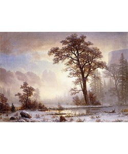 Albert Bierstadt, Yosemite Valley bei Schneefall.