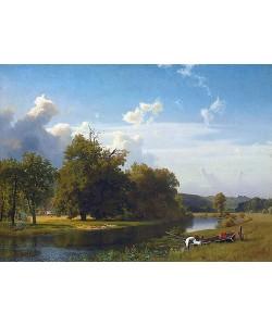 Albert Bierstadt, Flusslandschaft, Westphalia. 1855