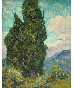 Vincent van Gogh, Zypressen. 1889