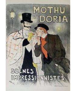 Théophile-Alexandre Steinlen, Mothu / et Doira / Scènes / Impressionistes. Frankreich, Paris, 1893.