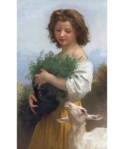 William Adolphe Bouguereau, Die kleine Esmeralda (La Petite Esmeralda). 1874