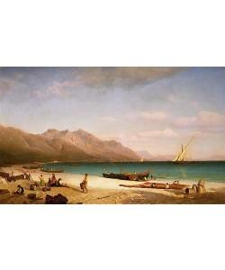 Albert Bierstadt, Der Golf von Salerno. 1858