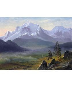 Albert Bierstadt, Mont Blanc.