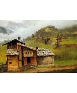 Albert Bierstadt, Haus in den Bergen (Mountain House).