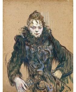Henri de Toulouse-Lautrec, Die Frau mit der schwarzen Boa (Femme au boa noir). 1892.