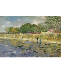 Vincent van Gogh, Ufer der Seine. Paris, Mai - Juli 1887.