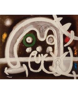 Miro Joan Mensch und Vogel (Frequenzmodulierte Rastertechnik, Bütten)