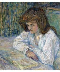 Henri de Toulouse-Lautrec, Die Lesende (La Liseuse). 1889