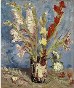 Vincent van Gogh, Vase mit Gladiolen und Astern. 1886