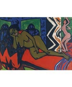 Ernst Ludwig Kirchner, Schlafende Milli. 1911. (siehe auch recto: Bild Nr. 57285)
