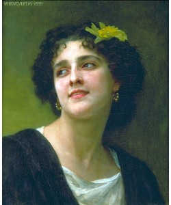 William Adolphe Bouguereau, Dunkelhaarige Schönheit. 1898.