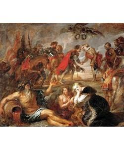 Peter Paul Rubens, Begegnung König Ferdinands von Ungarn mit dem Kardinalinfanten Ferdinand vor der Schlacht bei Nördlingen. 1634/35.