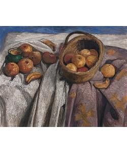 Paula Modersohn-Becker, Stillleben mit Äpfeln und Bananen. 1905.