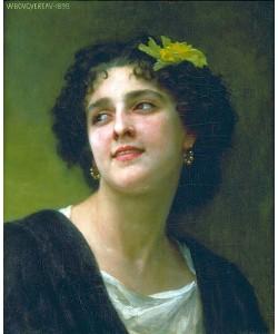 William Adolphe Bouguereau, Dunkelhaarige Schönheit. 1898.