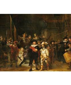 Rembrandt van Rijn, Die Kompanie des Kapitäns Frans Banninck Cocq, auch 'Die Nachtwache'. 1642