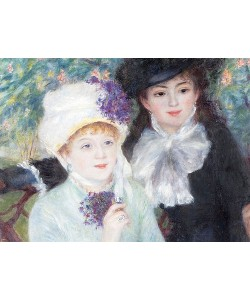 Auguste Renoir, Nach dem Mittagessen (La fin du Déjeuner). Detail. 1879 (siehe auch Bildnummer 4910)