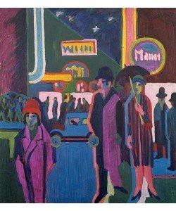 Ernst Ludwig Kirchner, Straßenszene bei Nacht. 1925.