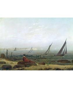 Caspar David Friedrich, Frau am Meer. Um 1818
