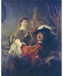 Rembrandt van Rijn, Selbstbildnis mit Saskia. Um 1635