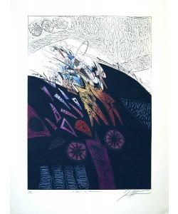 Dussau Georges Eclair de Nuit (Carborundum-Radierung, handsigniert)
