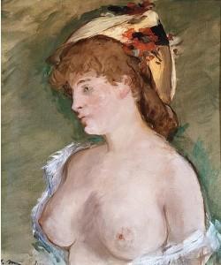 Édouard Manet, La blonde aux seins nus (Die Blonde mit entblößten Brüsten). 1878
