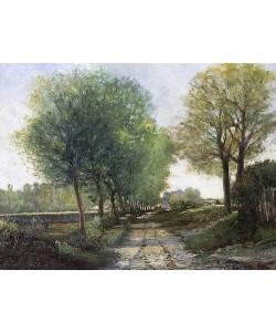 Alfred Sisley, Baumallee bei einem Städtchen. 4. Viertel 19. Jahrhundert.