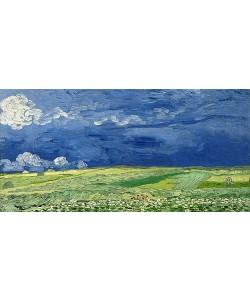 Vincent van Gogh, Weizenfeld unter einem Gewitterhimmel. 1890
