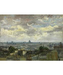 Vincent van Gogh, Blick auf Paris. 1886