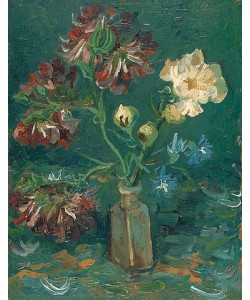 Vincent van Gogh, Flasche mit Pfingstrosen und Rittersporn. 1886