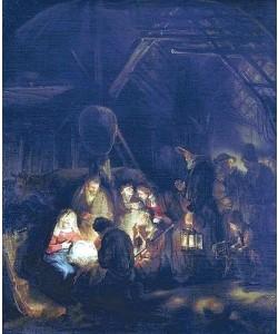 Rembrandt van Rijn, Anbetung der Hirten. 1646