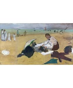 Edgar Degas, Am Strand. Um 1869-70