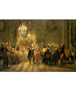Adolph von Menzel, DAS FLÖTENKONZERT