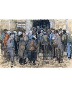 Vincent van Gogh, Die Armen und das Geld (Andrang vor dem Büro der Staatslotterie). 1882