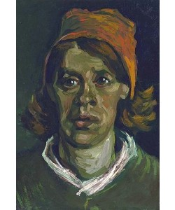 Vincent van Gogh, Kopf einer Frau. Nuenen, April 1885.